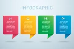 Plantilla gráfica del vector de la información cuadrada con 4 opciones Puede ser utilizado para el web, diagrama, gráfico, presen Imagen de archivo
