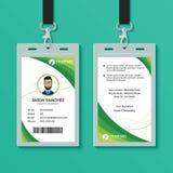 Plantilla gráfica verde del diseño de tarjeta de la identificación libre illustration