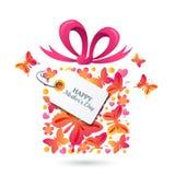 Plantilla greating de la tarjeta de madres del vector feliz del día ilustración del vector