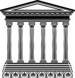 Plantilla griega del templo Imagenes de archivo