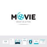 Plantilla guarra del logotipo de la compañía de industria cinematográfica Fotos de archivo