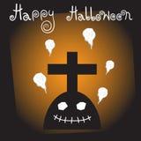 Plantilla Halloween del diseño Foto de archivo libre de regalías