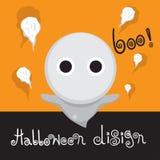 Plantilla Halloween del diseño Imagen de archivo libre de regalías