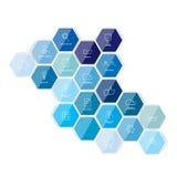 Plantilla hexagonal del icono Vector ilustración del vector