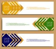 Plantilla horizontal abstracta de la bandera de la web stock de ilustración