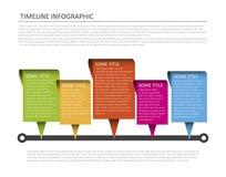 Plantilla horizontal de la cronología Foto de archivo