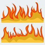 Plantilla horizontal de la hoguera para el web o el folleto imágenes de archivo libres de regalías
