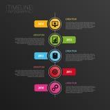 Plantilla horizontal moderna del diseño de la cronología de Infographic Iconos Foto de archivo libre de regalías