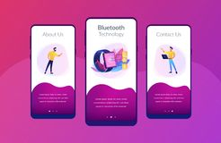 Plantilla inalámbrica del interfaz del app de la conectividad stock de ilustración