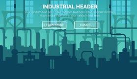 Plantilla industrial del jefe del sitio web Stock de ilustración