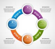 Plantilla infographic abstracta del diseño Foto de archivo