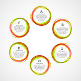 Plantilla infographic abstracta del diseño Imagenes de archivo