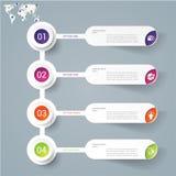 Plantilla infographic abstracta del diseño moderno Fotos de archivo libres de regalías