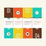 Plantilla infographic brillante del negocio moderno Fotografía de archivo