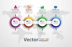 Plantilla infographic con 4 opciones para las presentaciones, publicidad, disposiciones, informes anuales, diseño web de la carta libre illustration