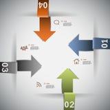 Plantilla infographic de cuatro pasos Fotografía de archivo libre de regalías