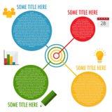 Plantilla infographic de cuatro pasos Fotografía de archivo