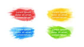 Plantilla infographic de la acuarela del movimiento del cepillo Diapositiva de la presentaci?n E imágenes de archivo libres de regalías