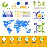 Plantilla infographic de la energía libre illustration