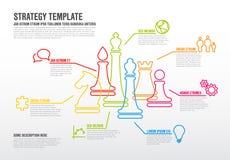 Plantilla infographic de la estrategia empresarial del vector Foto de archivo libre de regalías