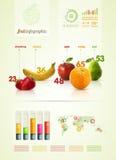 Plantilla infographic de la fruta del polígono stock de ilustración