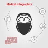 Plantilla infographic de la medicina Foto de archivo