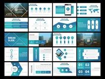 Plantilla infographic de la presentación de 20 elementos del paquete informe anual del negocio, folleto, prospecto, aviador de pu Foto de archivo libre de regalías