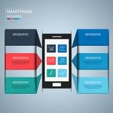 Plantilla infographic de los elementos del diseño del teléfono móvil Imagen de archivo libre de regalías