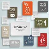 Plantilla infographic de los rectángulos abstractos Fotografía de archivo libre de regalías