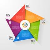 Plantilla infographic del círculo del estilo del molino de viento para los gráficos, cartas Fotografía de archivo