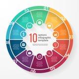 Plantilla infographic del círculo del gráfico de sectores del negocio del vector Fotos de archivo