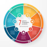 Plantilla infographic del círculo del gráfico de sectores del negocio del vector Imagen de archivo libre de regalías