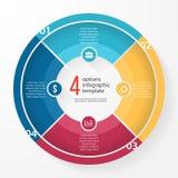 Plantilla infographic del círculo del gráfico de sectores del negocio del vector Fotografía de archivo
