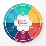 Plantilla infographic del círculo del gráfico de sectores del negocio del vector Fotos de archivo libres de regalías