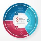 Plantilla infographic del círculo del gráfico de sectores del negocio del vector Imágenes de archivo libres de regalías