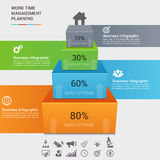 Plantilla infographic del concepto del negocio Fotografía de archivo