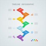 Plantilla infographic del diseño de la cronología isométrica libre illustration