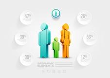 Plantilla infographic del diseño de la gente Foto de archivo libre de regalías