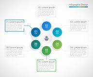 Plantilla infographic del diseño del negocio con 6 pasos Imagenes de archivo