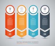 Plantilla infographic del diseño del vector ilustración del vector