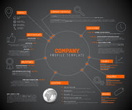 Plantilla infographic del diseño de la descripción de la compañía Imagen de archivo