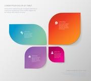 Plantilla infographic del estilo de la forma de la mariposa de cuatro áreas Imágenes de archivo libres de regalías