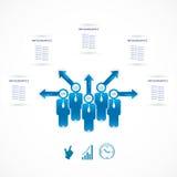 Plantilla infographic del estilo mínimo del diseño moderno ilustración del vector