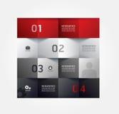 Plantilla infographic del estilo mínimo del diseño moderno Fotos de archivo libres de regalías