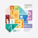Plantilla infographic del estilo mínimo del diseño moderno. Fotografía de archivo libre de regalías
