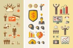 Plantilla infographic del negocio Fotos de archivo libres de regalías