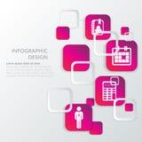 Plantilla infographic del negocio Fotografía de archivo
