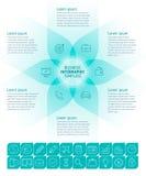 Plantilla infographic del negocio Foto de archivo libre de regalías