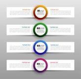 Plantilla infographic del negocio con opciones y pasos del círculo Imágenes de archivo libres de regalías