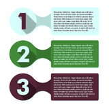 Plantilla infographic del progreso de tres pasos Imagen de archivo